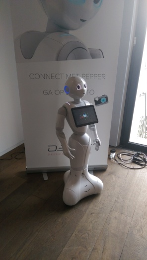 Softbank's Pepper was there, brought by https://www.decos.com/nl/